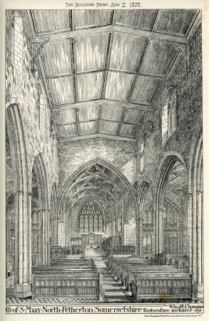 North Petherton Church interior 1878